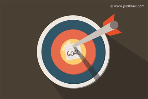 Dart On Target Icon, Business Goal Icon PSD   Psdblast