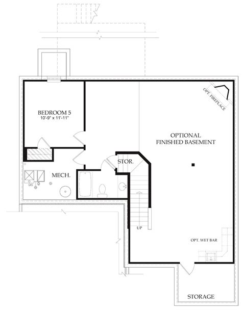 Daylight Basement Floor Plans Basement Floor Plans Walkout Basement Floor Plans