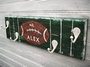 Football Room Decor Football Team Player Rack Hanger Boys Sports Room Decor Wall 4