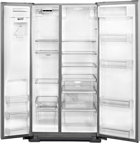 Maytag Refrigerator Glass Shelf Replacement by Maytag Msb27c2xam 27 Cu Ft Side By Side Refrigerator