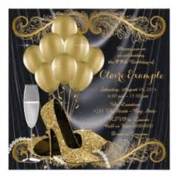 black and gold invitations amp announcements zazzle