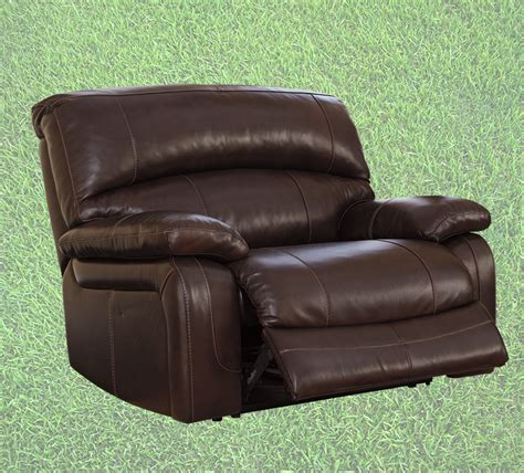 extra large leather recliner put your game day plan in motion xo ashley