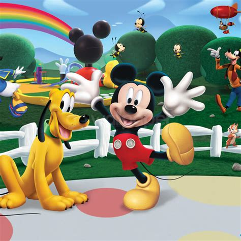 mickey mouse clubhouse wall mural walltastic disney mickey mouse clubhouse wallpaper mural at gowallpaper uk