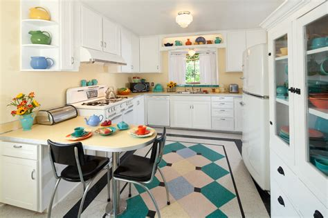 retro kitchen flooring baroque fiestaware in kitchen midcentury with linoleum