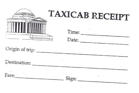blank taxi receipt template printable taxi receipts kinoroom club
