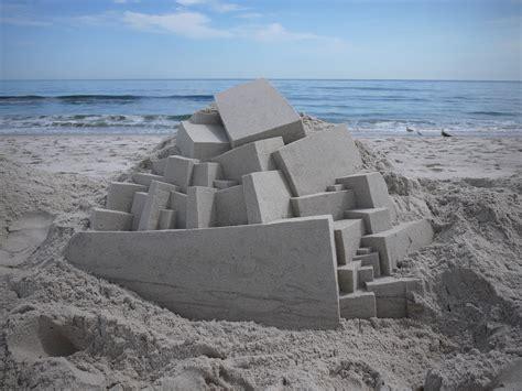 bensozia calvin seibert s sand castles geometric sand sculptures by calvin seibert 171 twistedsifter