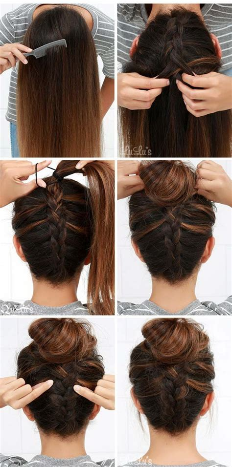 Easy Hairstyles For At Home by Easy Hairstyles To Do At Home Step By Step Www Pixshark