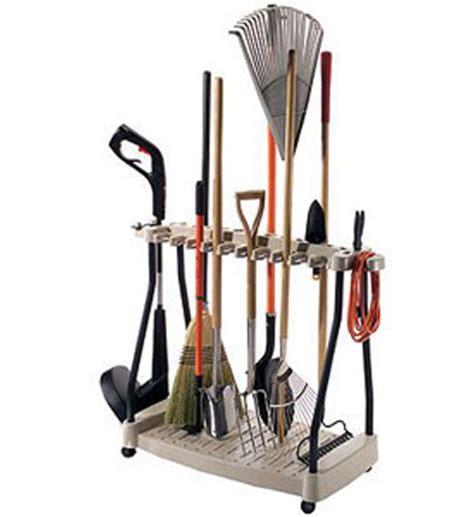 backyard tools yard tool organizer rack in garden tool storage