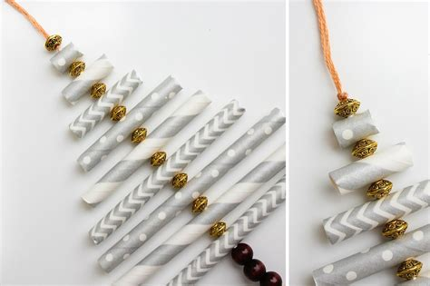 Weihnachtliche Deko Basteln by Diy Ornament Tutorial Using Paper Straws