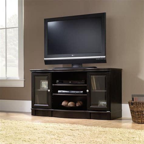 tv stand with shelves sauder regent place panel estate black finish tv stand ebay