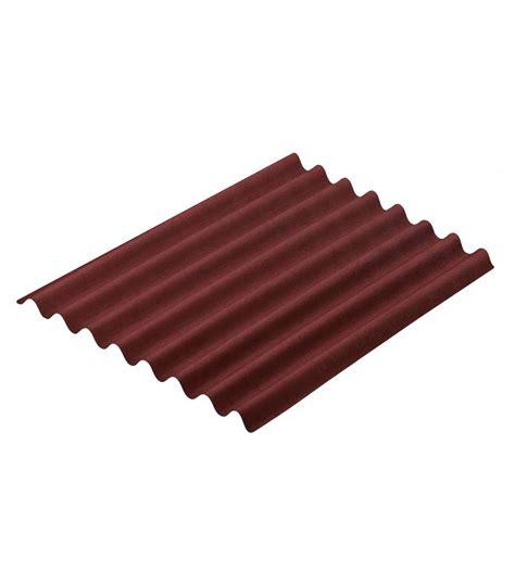 onduline per tettoie offerta lastra onduline easyline rosso 100x76cm