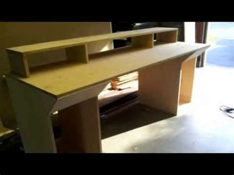 54 Inch Desk Building Home Studio Recording Desk Youtube