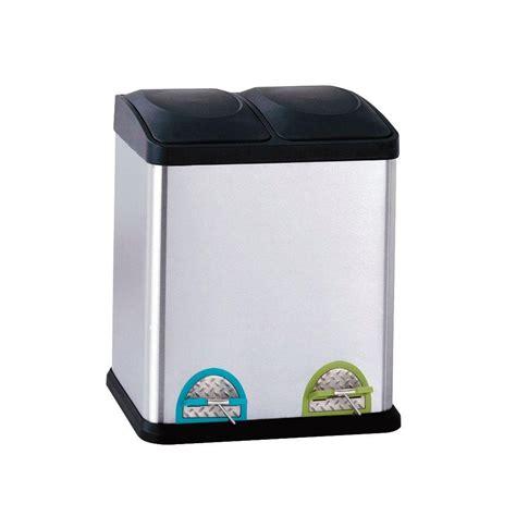 rubbermaid 13 2 gal 2 in 1 recycling bin 1819956 the