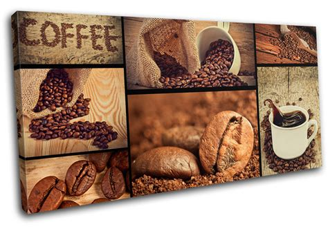 Online Purchase Home Decor Items by Coffee Shop Food Kitchen Single Canvas Wall Art Picture