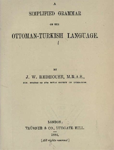 ottoman turkish language simplified grammar of the ottoman turkish language