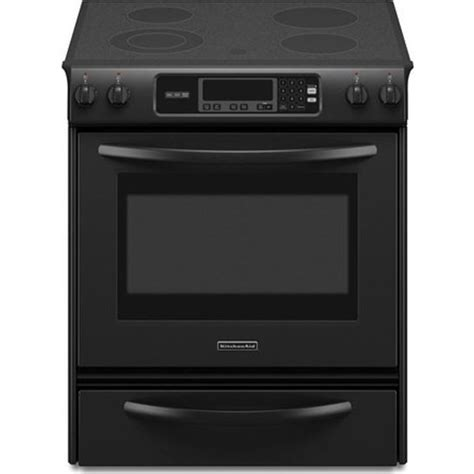 Kitchenaid Fridge Sabbath Mode Kitchenaid Kesk901sbl 30 Quot Slide In Electric Range With 4