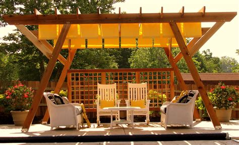 Exteriors A Backyard Deck With Pergola Ideas Outside Shade Cheap Pergola Ideas