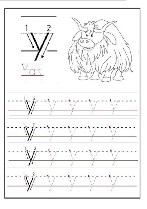 printable letter y worksheets for preschool lowercase letter y tracing worksheet for 1st grade