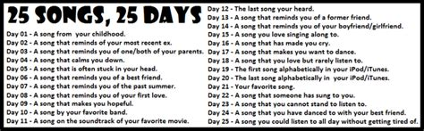 25 songs in 25 days petitemagique the songs of my life suzie speaks