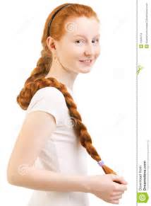 images teenage girl: more similar stock images of teenage girl with long red plait