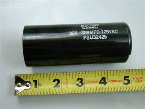 mallory electric motor capacitor mallory 324 389mfd capacitor psu32425 ebay