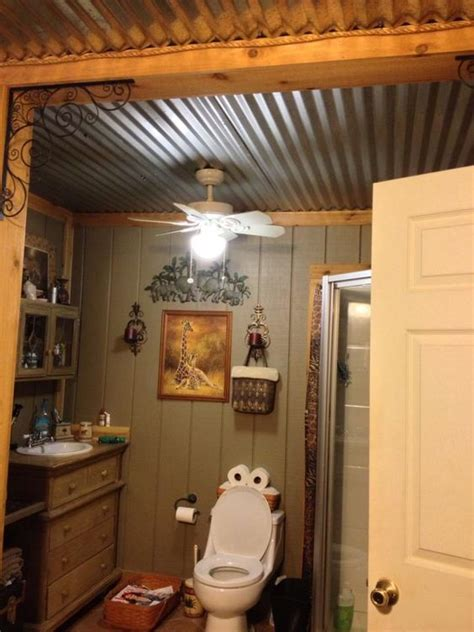 bathroom ceiling ideas barn tin bathroom ceiling for the home pinterest