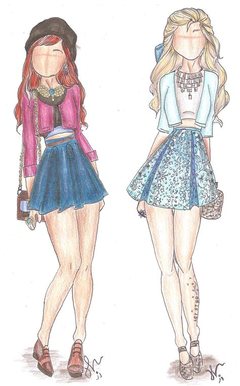 design real clothes disney princess fashion anna and elsa by vianadrawings