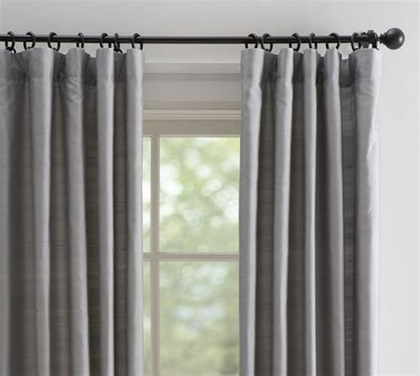 drape curtains dupioni silk drape pottery barn