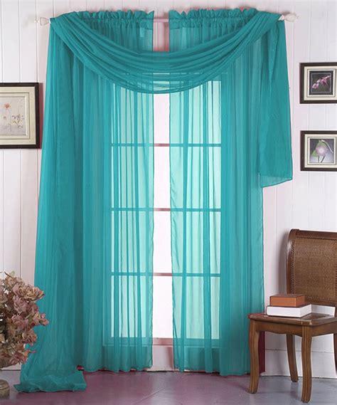 aqua curtain aqua voile curtain panel scarf set