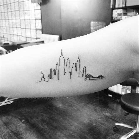 new york tattoo forearm new york skyline tattoo on the right inner arm tattoo