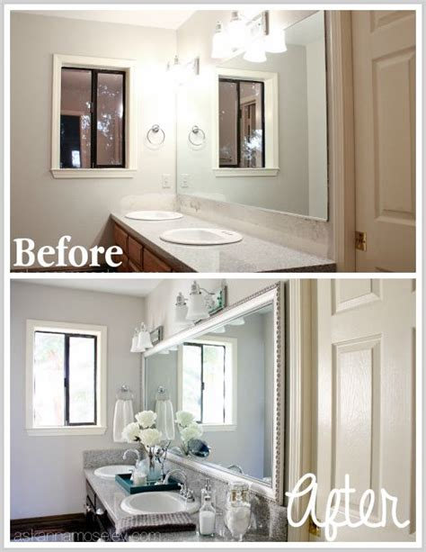 bathroom mirror makeover bathroom mirror makeover mirror makeover and bathroom