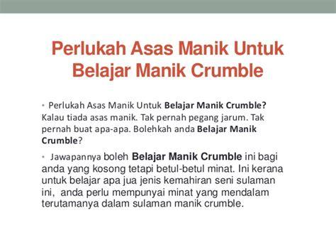 Lu Untuk Belajar perlukah asas manik untuk belajar manik crumble