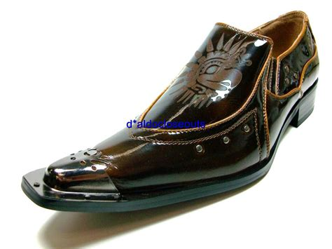 mens italian style metal toe tip dress casual shoes nib ebay