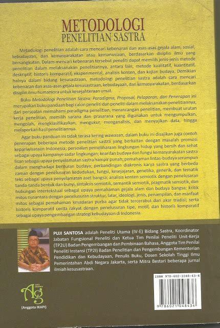 Pengantar Metodologi Penelitian Budaya Rupaagus Sachari gita puja metodologi penelitian sastra paradigma pelaporan dan penerapan