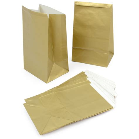 How To Make Paper Goody Bags - gold paper mini treat bags 12 4 6930 mardigrasoutlet