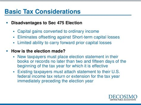 section 475 election the abcs hedge fund tax