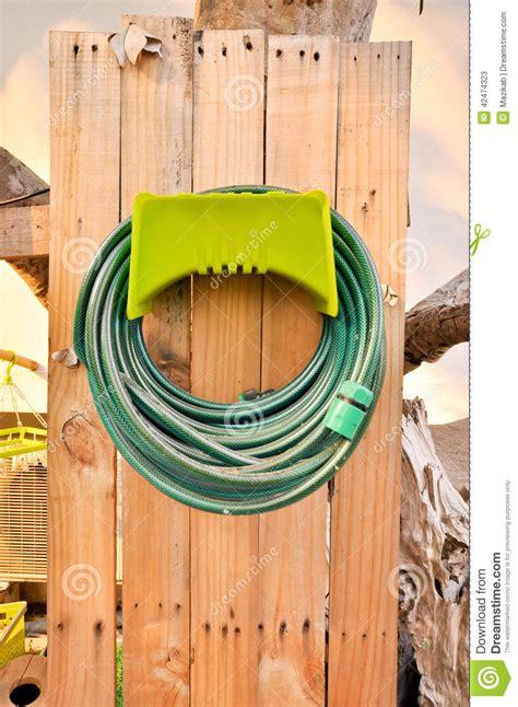 hoses stock image image  fence circle hose holder