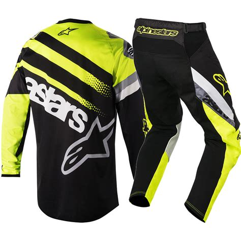 alpinestars motocross gear alpinestars mx 2018 racer supermatic black fluro