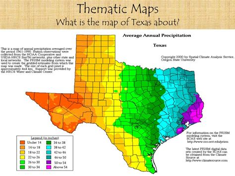 thematic map of texas tools of geography maps and projections ppt