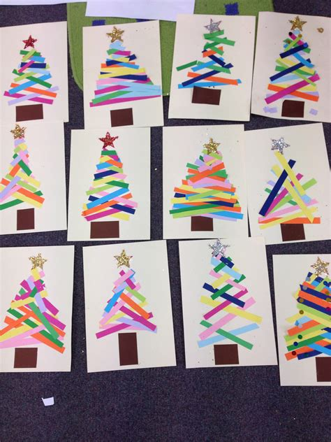 Kindergarten Paper Crafts - kindergarten do this as a center tree paper