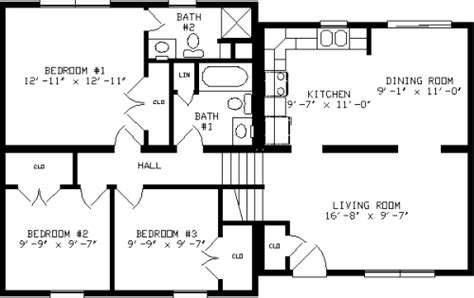 3 Bedroom Split Level House Plans by Glenn By Apex Modular Homes Split Level Floorplan