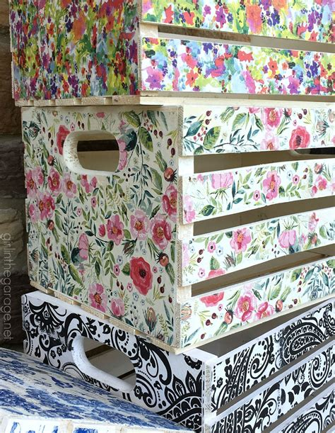 decoupage on wood ideas decoupage crates framed cork boards and drawer shelves