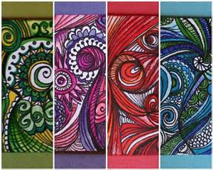 zentangle color creative color zentangle atcs zentangle doodle and