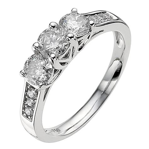 18ct white gold 0 50ct ring ernest jones
