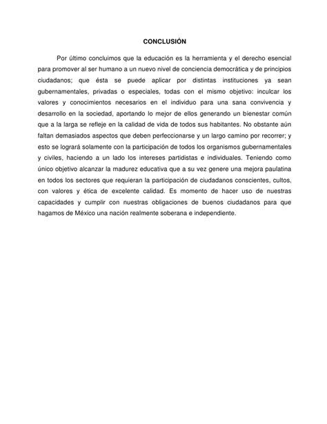 conclusion de impuestos estatales y municipales ensayos y ensayo acerca de educaci 243 n pol 237 tica en m 233 xico