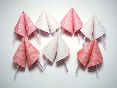 Origami Fortune Cookies - breast cancer awareness origami fortune cookies set of