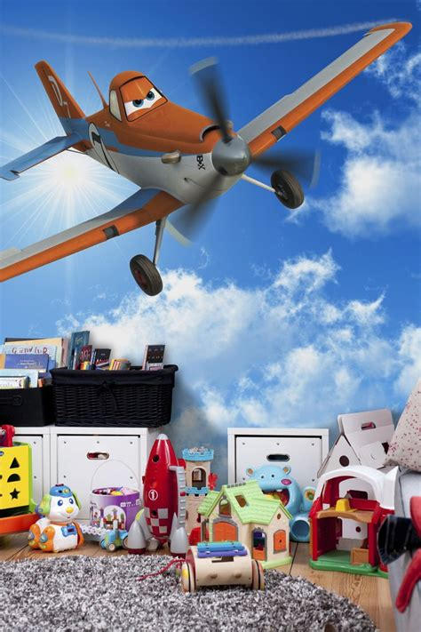 disney planes wall mural dusty in the sky disney planes photowall wallpaper wall murals boy s room