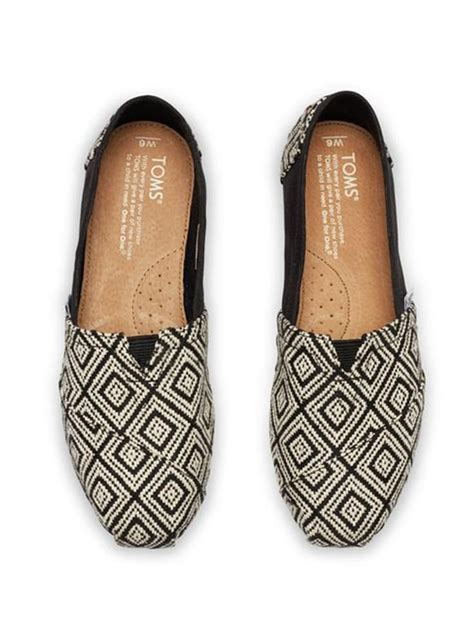 cheap toms shoes black woven s classics toms just in