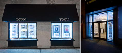 lighted window displays town residential led displays windows