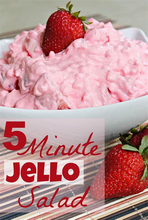 Strawberry Jello Salad Cottage Cheese by 5 Minute Jello Salad Recipe Just A Pinch Recipes